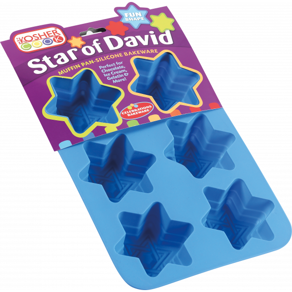 Silicone Muffint/Cupcaske Mold - Star of David