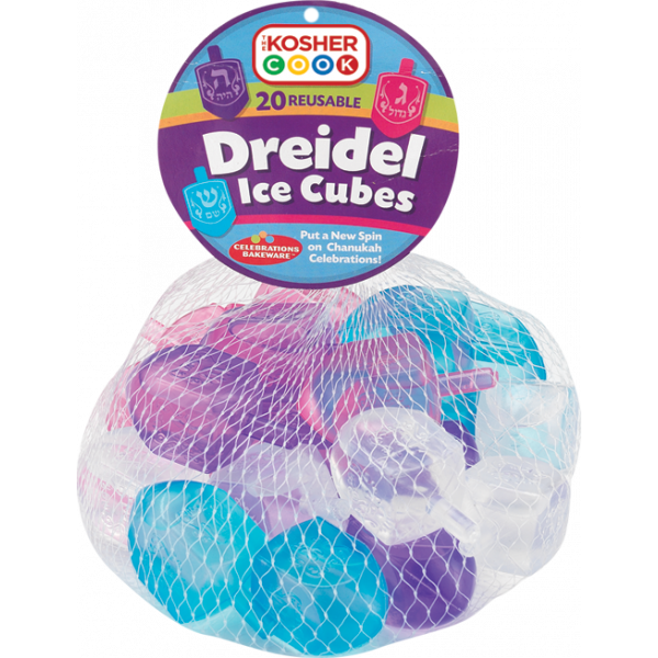 Reusable Ice Cubes - Dreidel 20pk.