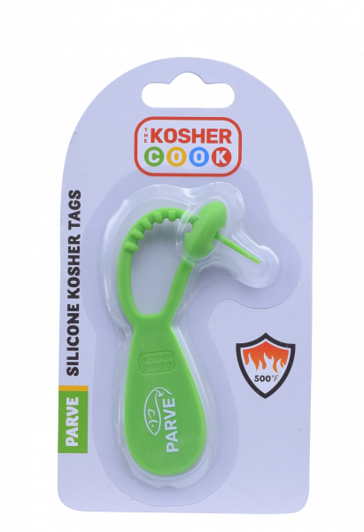 Silicone Kosher Tags - Green