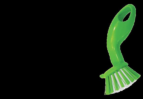 Easy Grip Kitchen Brush - Green